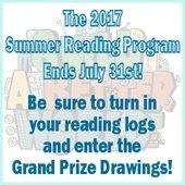 Summer Reading Program Ends July 31st!