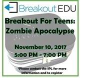 Breakout For Teens: Zombie Apocalypse